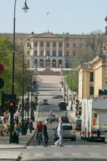 Slottet sett fra Karl Johan. (Foto: Colourbox)