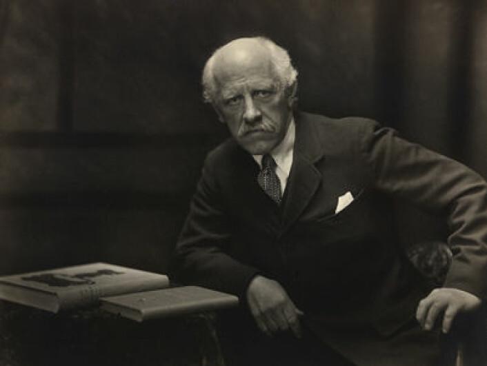 Fridtjof Nansen som fredsprisvinner, 1922. Foto: Anders Beer Wilse /eier: Nasjonalbiblioteket.