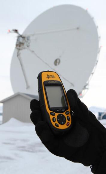 VLBI danner grunnlag for nøyaktige GPS-obervasjoner. Foto: Bjørn-Owe Holmberg.