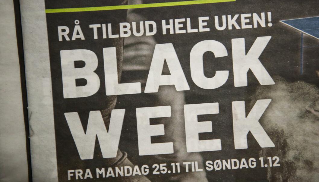 Black Friday og Black Week preger denne uken. De store leverandørene av sportsklær, møbler og elektro fyller postkasser og aviser.
