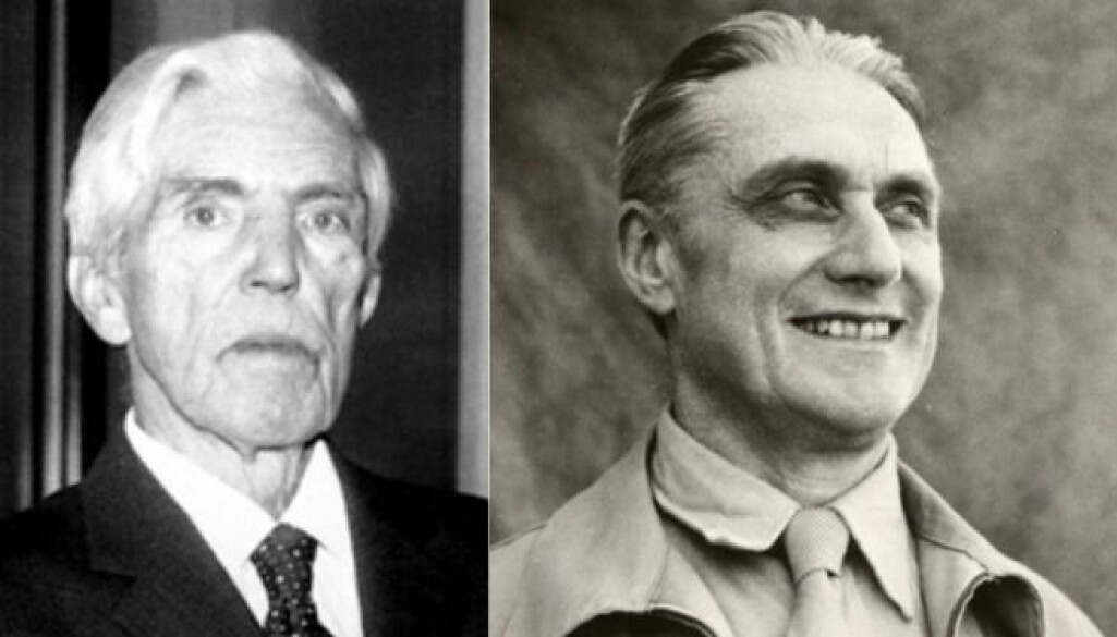 Økonomiske ikon: Trygve Haavelmo og Ragnar Frisch har gitt retning for økonomifaget nasjonalt og - ikkje minst - internasjonalt. 3. desember blei 50- og 30-års jubileet for at begge fekk Nobelprisen i økonomi feira.