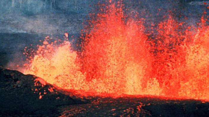 Sporene etter vulkaner ligner til forveksling de som en kjempemeteor etterlater seg. (Foto: www.colourbox.com) (Foto: Wikimedia Commons)