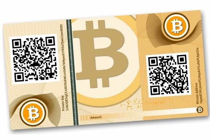 Pengeseddelen er en illustrasjon. Bitcoin eksisterer bare som bits, krypterte data, på internett. Sender og mottaker er anonyme, og alle transaksjoner føres i en logg som er distribuert på nettet. (Foto: (Illustrasjon: CASASCIUS, Creative Commons))