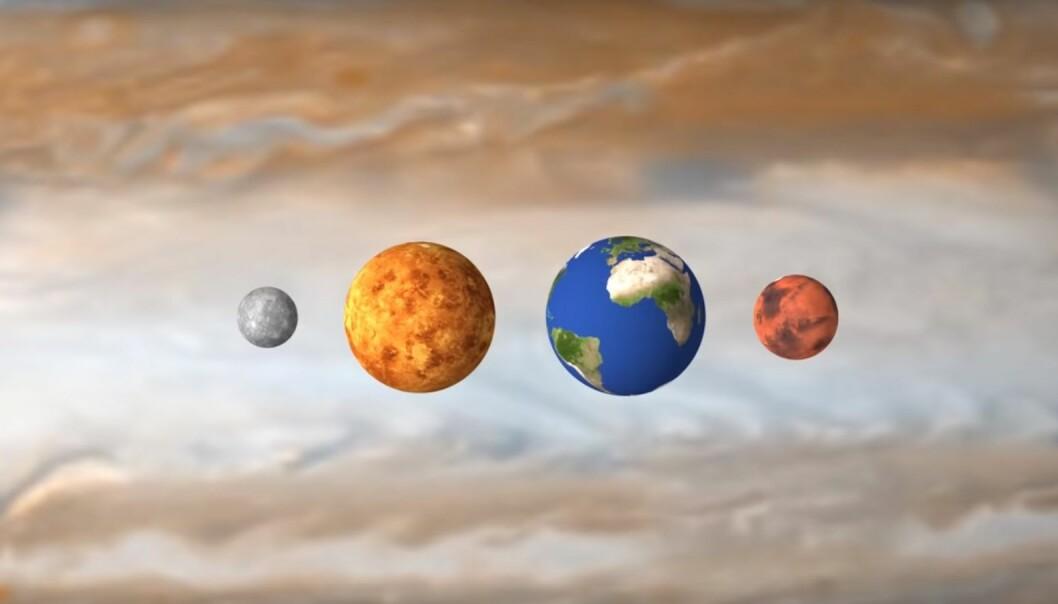 Solsystemet slik det egentlig ser ut