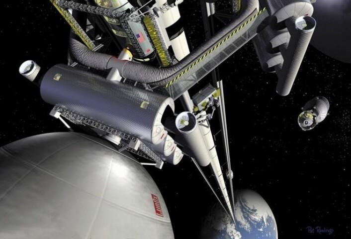 Fremtidig romheis. (Foto: (Illustrasjon: NASA MSFC, Artist Pat Rawling))
