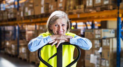 Eldre arbeidstakere føler seg mindre slitne enn yngre