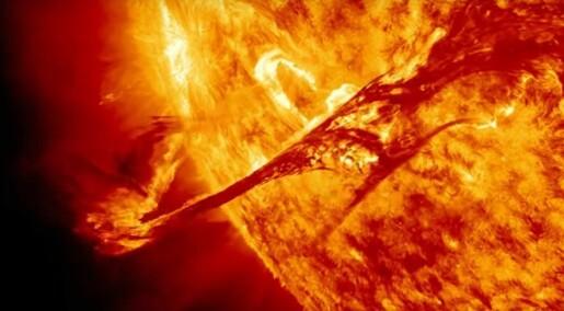 Solstormer er en fare for Forsvaret