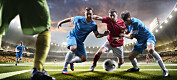 Blir fotballspillere smittet av spytt på banen?