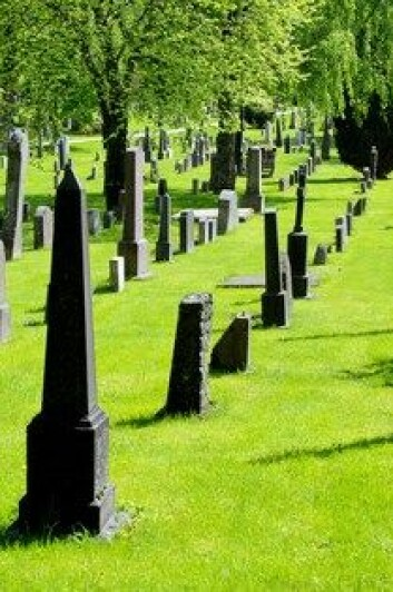 Én av ti nordmenn vil heller at asken skal spres på havet eller annet sted når de dør, enn å legge kroppen i grav på kirkegården. (Foto: Colourbox)