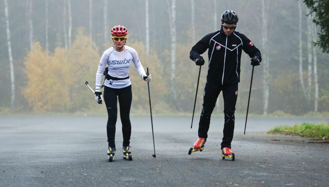 Skiløping er mykje meir prega av leik - og ofte òg drive av foreldre.
