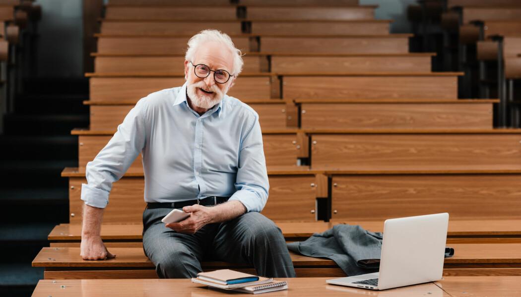 En typisk professor: en eldre mann.
