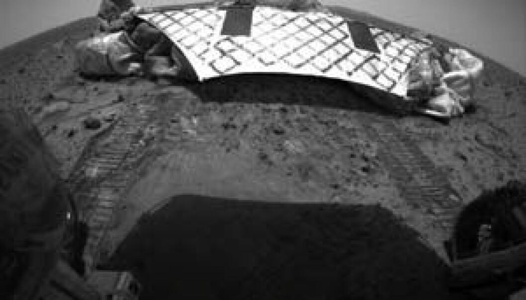 Spirit har rullet ned på Mars