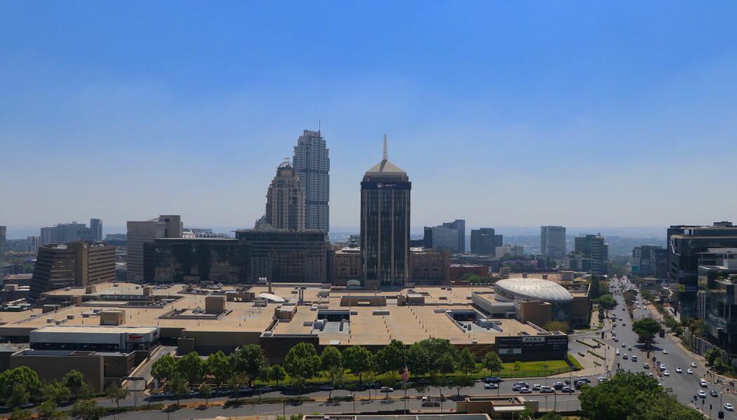 Sandton, Sør-Afrikas finanshovedstad, regnes som Afrikas rikeste kvadratkilometer.