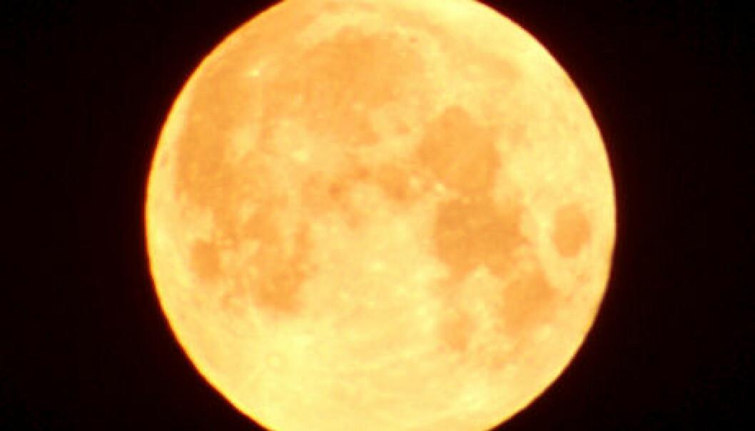 Hvorfor blir månen større?