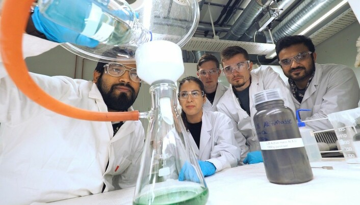 From the laboratory: Postdoc Sulalit Bandyopadhyay, intern Andreas Stoffel from IAESTE and RMIT University, Melbourne, and master's students José Paulino Peris Sastre, Neshat Zahraie andZeeshan Ali.