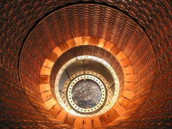 En del av detektoren ATLAS, en av fire detektorer langs Large Hadron Collider (LHC) ved Cern i Sveits/Frankrike. (Foto: CERN)