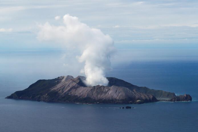 Slik så vulkanen på White Island ut tre dager etter utbruddet som krevde fem menneskeliv.