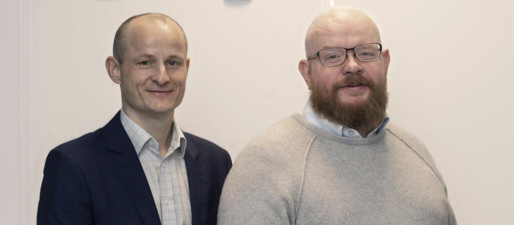 Levi Gårseth-Nesbakk (t.v.) er ansatt som prorektor for utdanning og Ketil Eiane er ny midlertidig prorektor for strategi og omstilling.