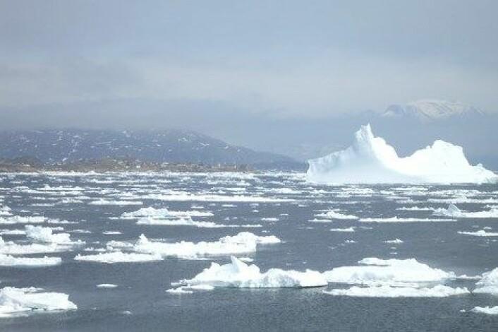 Når kvit is blir erstatta av mørk havoverflate aukar varmeopptaket i Arktis. (Foto: Colourbox)