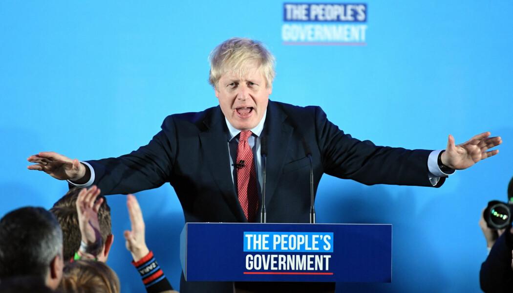 – Vi klarte det, sa den britiske statsministeren Boris Johnson sin seierstale.