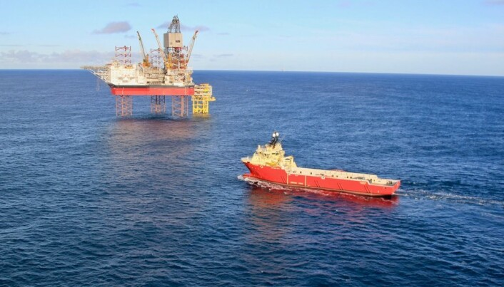 If the world decides to invest in carbon capture and storage, industry has the ability and the technology to ramp up production of CO2 injection wells. The photos shows the Askepott drill rig in the North Sea in 2018.