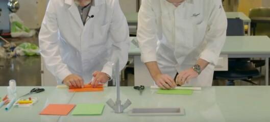 15. desember: Me lager ein papir-rakett som går på trykkluft
