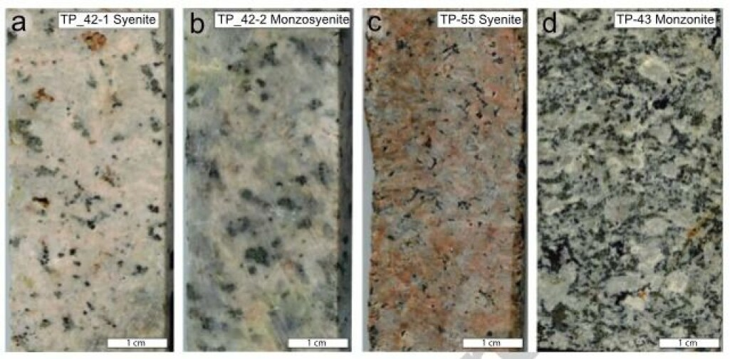 Prøver av magmatiske bergarter som størknet rett under datidens overflate i De sibirske trappene / Taimyr. Aldersanalyser av zirkoner viser at bergartene er yngre enn selve basalten i lavadekket.
