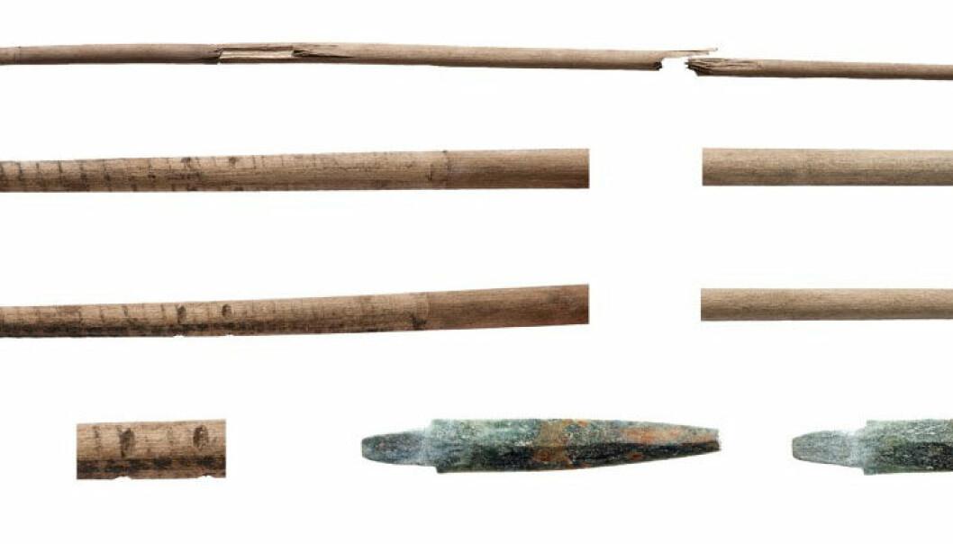 Fann 5400 år gammal steinalderpil i snøfonn