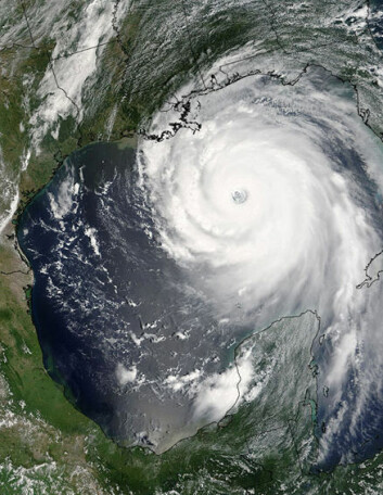 """Satellittbilde av orkanen Katrina, tatt 29. august 2005."" (Foto: NASA)"