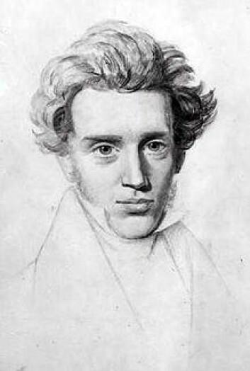 Filosofen Søren Kierkegaard mente at livet har en mening som er garantert av Gud. (Foto: (Tegning: Niels Christian Kierkegaard))