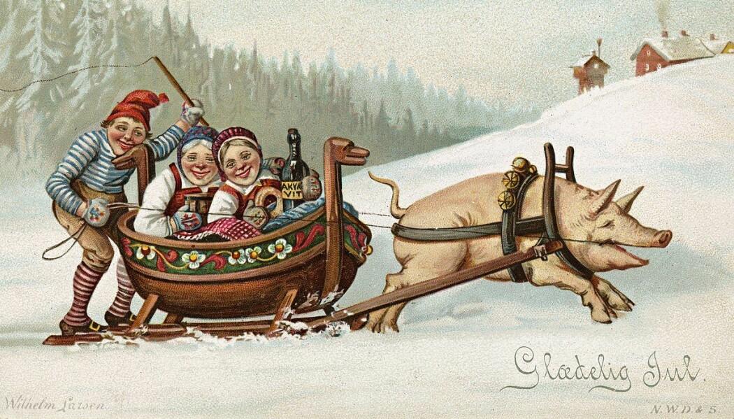 Hvor mye har julefeiringen i Norge endret seg på noen hundre år?