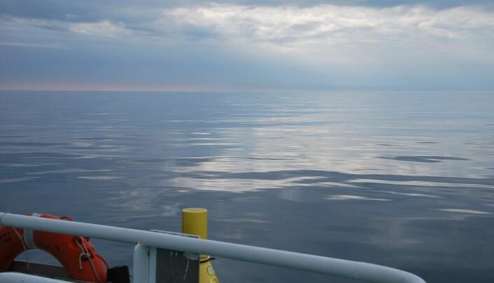 Havet ligger fullstendig stille. Utsikt som dette er en sjeldenhet, selv for de erfarne sjømennene på G. O. Sars. (Foto: Hanne Østli Jakobsen)