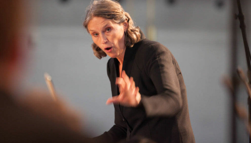 Grete Pedersen er dirigent for Det norske solistkor. Henrik Dvergsdal