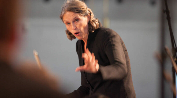Grete Pedersen er dirigent for Det norske solistkor. (Foto: Henrik Dvergsdal)