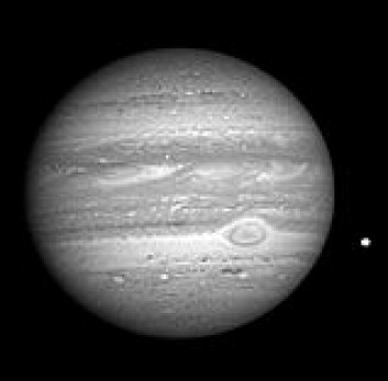 """Jupiter fotografert av New Horizons 8. januar i år. Foto: NASA"""