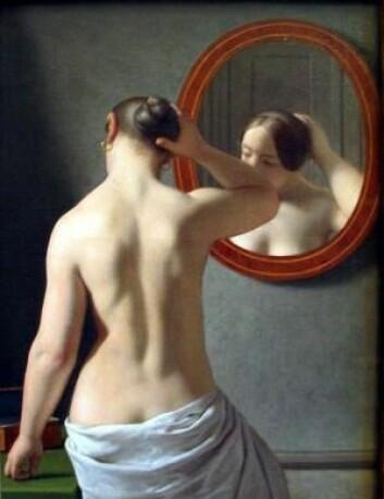 Kunstneren C.W. Eckersberg er en av de store danske kunstnerne som slo igjennom under gullalderen. (Foto: (Maleri: «Kvinde foran et spejl» av C.W. Eckersberg))