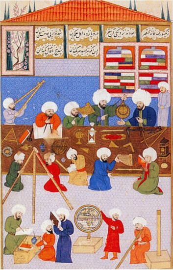 Ottomanske astronomer arbeider ved Istanbul-observatoriet rundt 1574-1595. (Foto: (Bilde: Ala ad-Din Mansur-Shirazi, Wikimedia Commons))