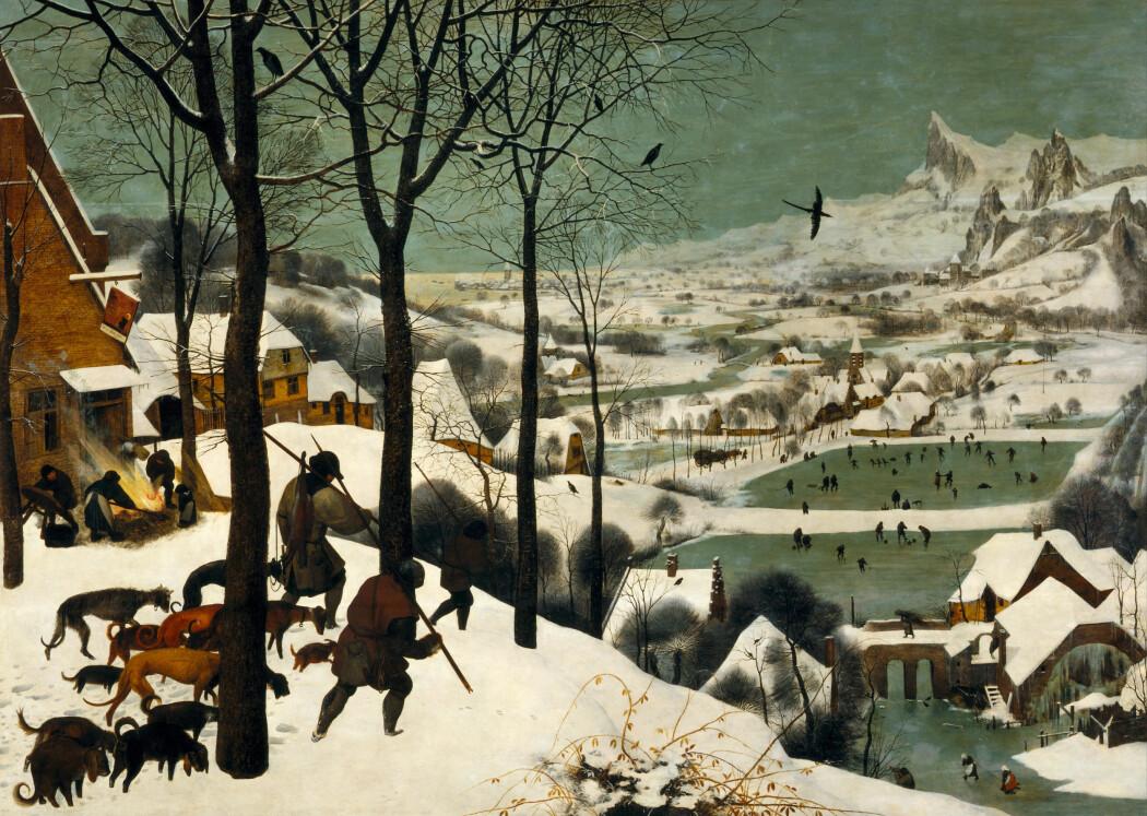 Det var kaldt, da Pieter Breugel den eldre malte dette bildet i 1565