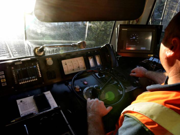 ERTMS prøves ut på strekningen Askim-Sarpsborg, langs Østre linje. Her skal systemet trolig settes i drift fra høsten 2015. (Foto: Jernbaneverket)