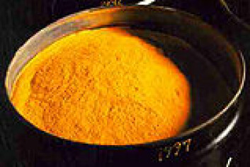 """Kjele med yellowcake. Foto: COGEMA, Frankrike"""