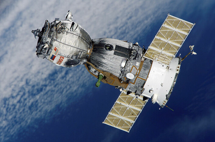 Sojuz-romskip i bane rundt jorda (Foto: NASA)