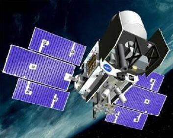 NASAs lasersatellitt ICESat, som var i virksomhet fra 2003 til 2009. (NASA)