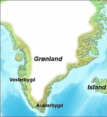 De norrøne bosettingene på Grønland, Vesterbygd og Austerbygd, var begge på vestkysten. De viktigste jaktområdene var lenger nord.