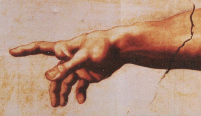 Detalj fra Skapelsen av Adam, av Michelangelo Buonarroti. (Foto: (Bilde: Wikimedia Commons))