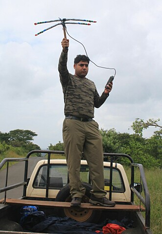 Researcher Arjun Gopalaswamy, pictured during field work, finds it very unlikely that the number of tigers has increased in the way the Indian government claims.