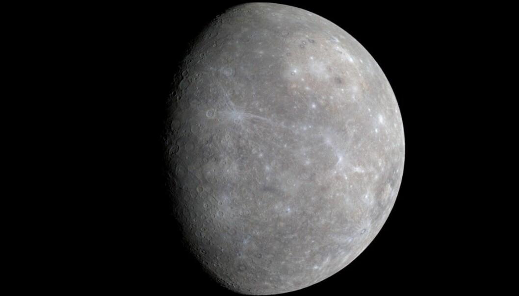 Merkur er den innerste planeten i vårt solsystem - den bruker bare 88 dager på en runde rundt Sola. Foto: NASA/Johns Hopkins University Applied Physics Laboratory/Carnegie Institution of Washington / NRK