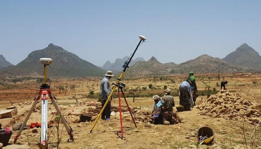 Under utgravningen i Etiopia av det som viste seg å være en by fra det Aksumittiske riket.