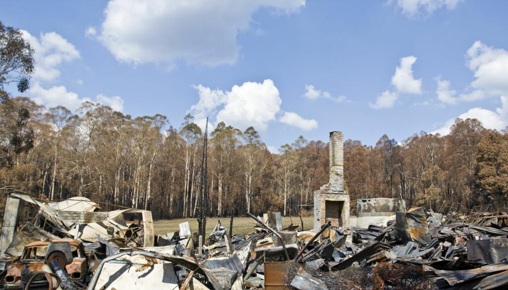 Brannene rammer også bygninger. Rundt 2000 bygninger er gått med per 8. januar 2020.