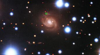 Et gjentagende radioglimt er sporet tilbake til denne galaksen