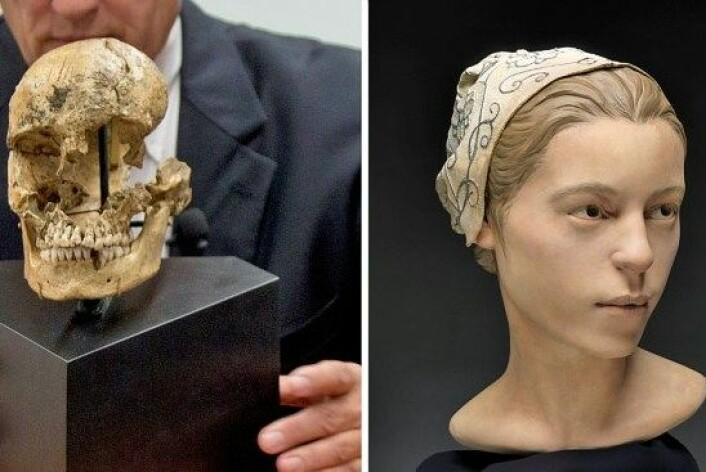Rekonstruksjonen viser hvordan 14 år gamle 'Jane' kan ha sett ut. (Foto: Smithsonian Institute)